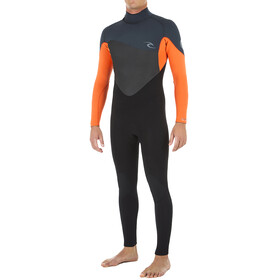 Rip Curl Omega 3/2 Back Zip Steamer Wetsuit Heren, orange